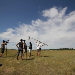 Filming at Blackfoot Crossing where Treaty 7 was signed